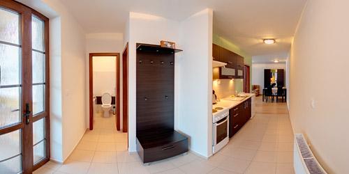 Apartmán - hala & kuchynka